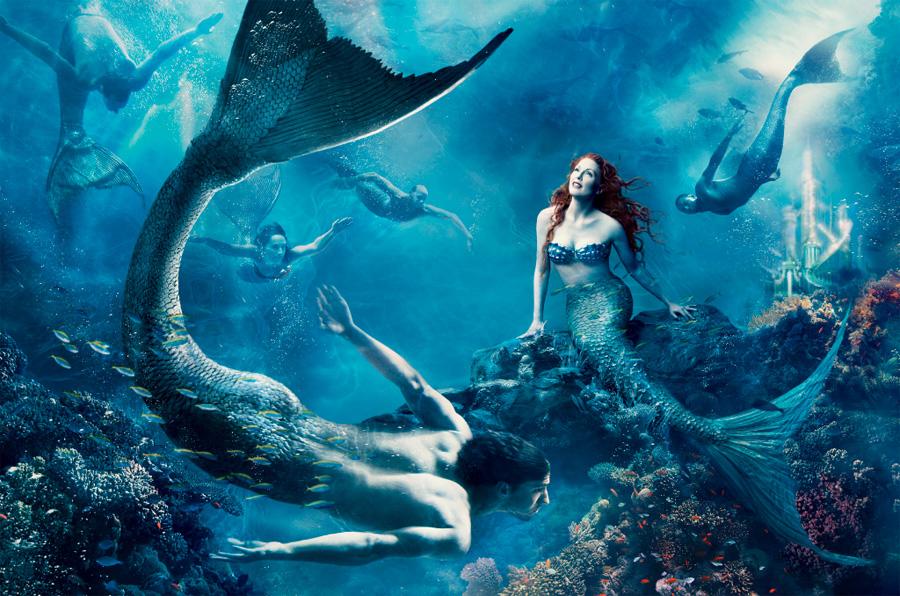 La Sirenita. Julianne Moore como Ariel