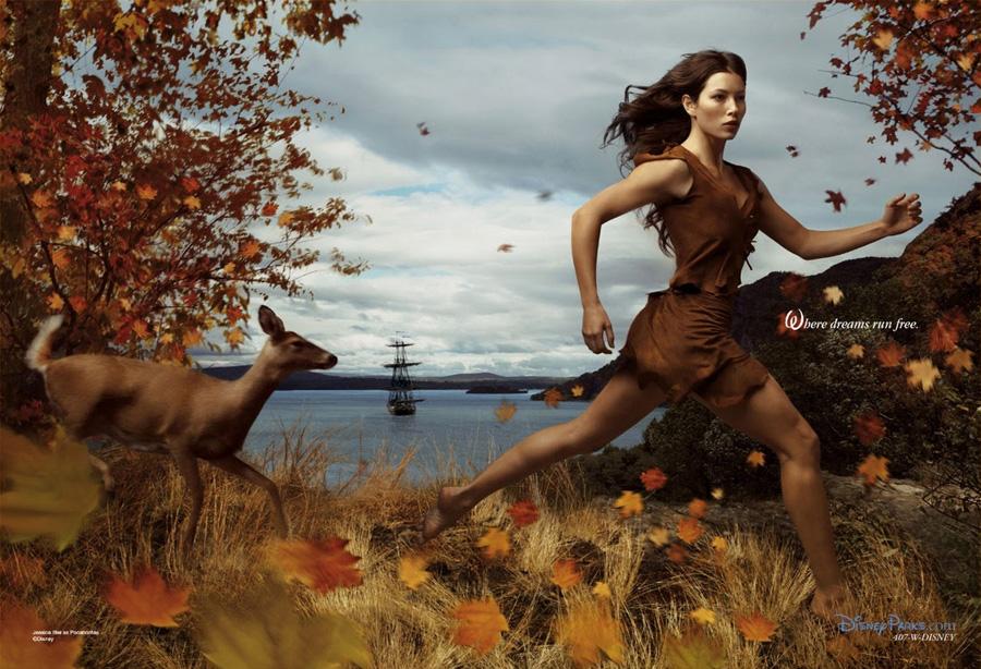Jessica Biel como Pocahontas