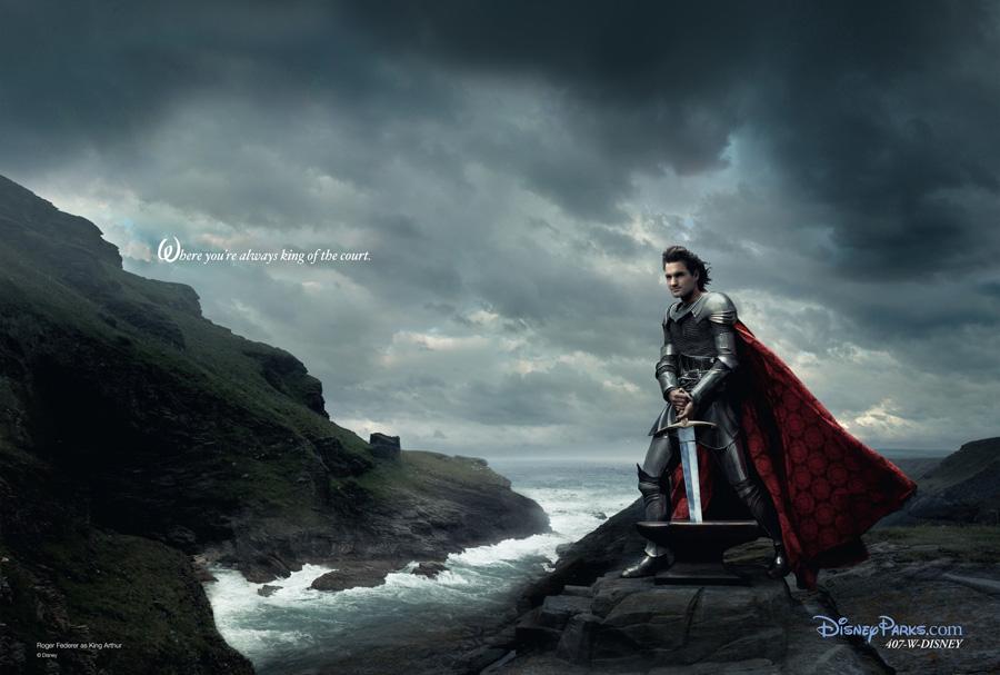La espada en la piedra. Roger Federer como el Rey Arturo