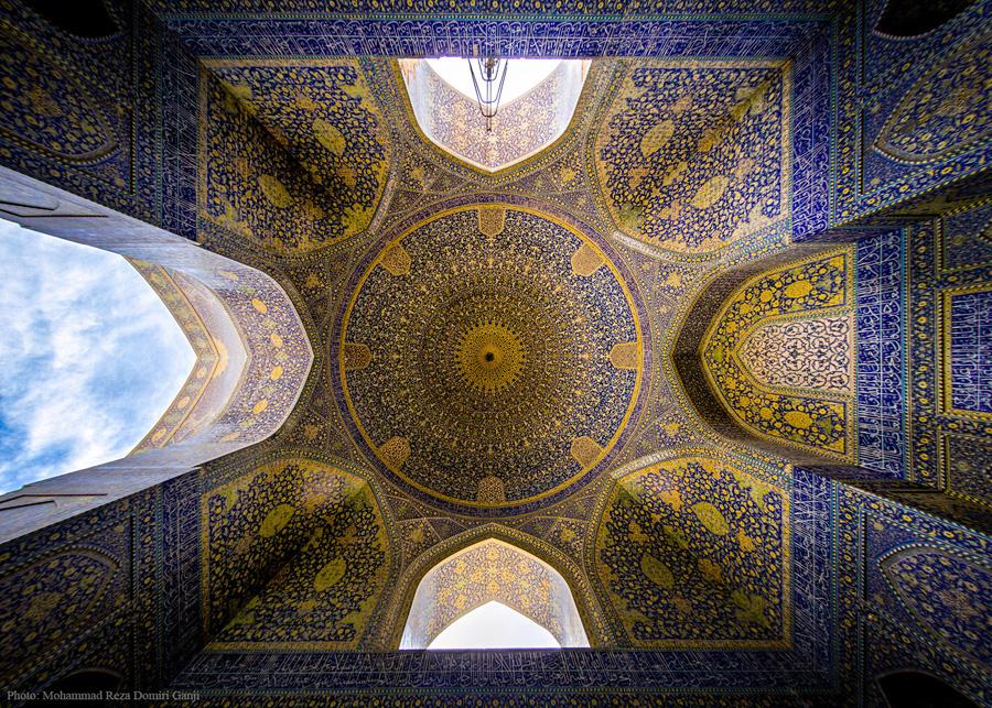 Emam---Shah-mosque--saghf---Isfahan---Iran